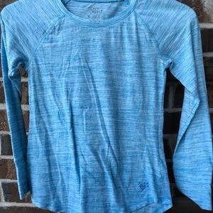 Justice Shirts & Tops - Light Blue Long Sleeve Justice Top